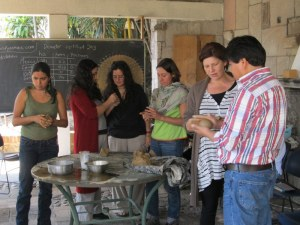 Clay modelling at Huerta de Vinci biodynamic course
