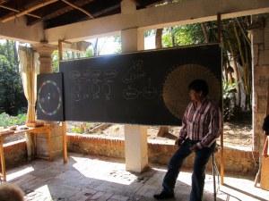 Pedro Cruz teaching a session at Biodynamic diplomado, Huerta de Vinci