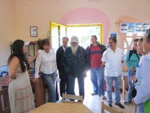 Visit to Waldorf school beside community garden, Colima