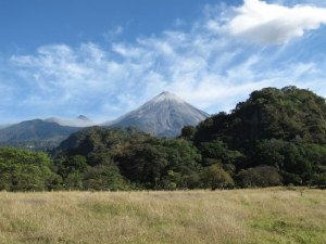 Volcano above El Jabali  Ranch