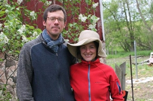 Jeff Schreiber and Kelly Kiefer of Three Sisters Community Farm